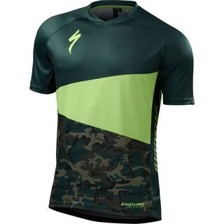 Specialized Enduro Comp Jersey SS, monster green/camouflage - Radtrikot