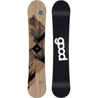 goodboards Wooden Camber 2018, esche blau - Snowboard