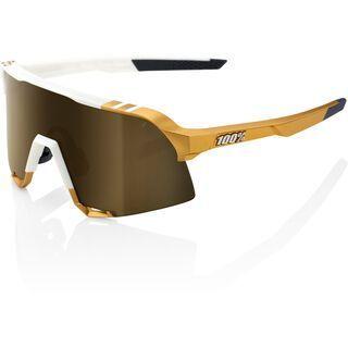 100% S3 Peter Sagan LTD inkl. WS, weiß/gold/Lens: gold mirror - Sportbrille