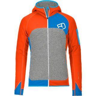 Ortovox Fleece Plus Merino Hoody, crazy orange - Fleecejacke