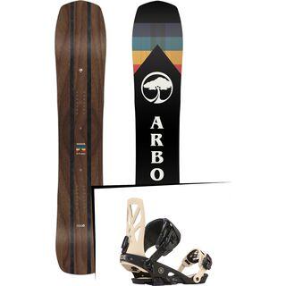 Set: Arbor A-Frame 2019 + Ride Capo tan