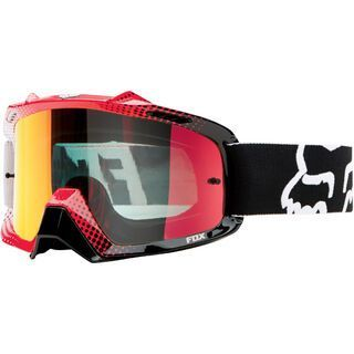 Fox Airspc, 360 race blk-wht-red/Lens: red spark - MX Brille