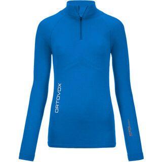 Ortovox Merino Competition Long Sleeve Zip Neck Women, blue ocean - Funktionsshirt