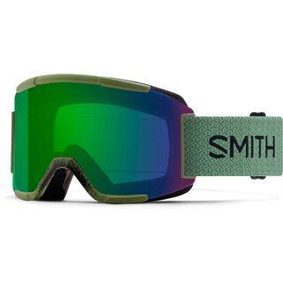Smith Squad inkl. Wechselscheibe, olive/Lens: everyday green mirror chromapop - Skibrille