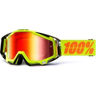 100% Racecraft inkl. Wechselscheibe, neon sign/Lens: mirror red - MX Brille