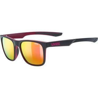 uvex lgl 42, black purple mat/Lens: mirror pink - Sonnenbrille