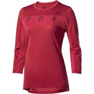 Fox Womens Ranger Drirelease 3/4 Jersey, cardinal - Radtrikot