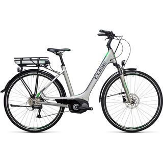 Cube Touring Hybrid ONE 400 Easy Entry 2017, silver´n´flashgreen - E-Bike