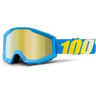 100% Strata, blue/Lens: mirror gold - MX Brille