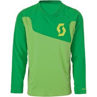 Scott AMT l/sl Shirt, green/lime green - Radtrikot