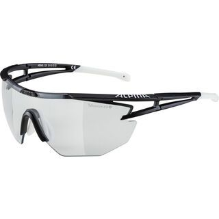 Alpina Eye-5 Shield VL+, black matt white/Lens: varioflex black - Sportbrille