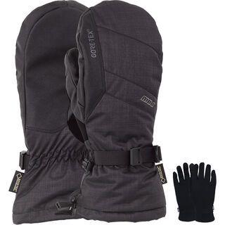 POW Gloves Warner Gore-Tex Long Mitt + Merino Liner, black - Snowboardhandschuhe