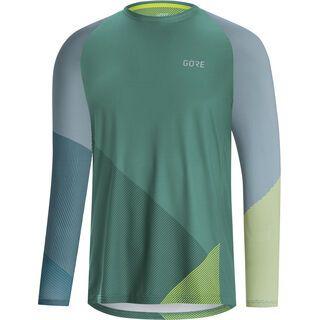 Gore Wear C5 Trail Trikot Langarm, blue/green - Radtrikot