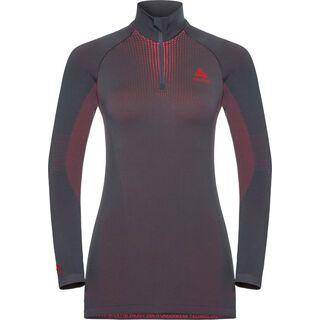 Odlo SUW Top Performance Warm 1/2 Zip L/S, gray-pink - Unterhemd