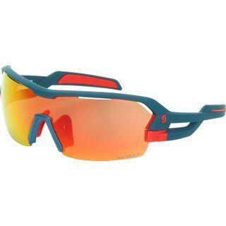 Scott Spur Sunglasses + Wechselscheibe, dark blue matt/red/Lens: red chrome - Sportbrille