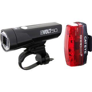 Cateye GVolt 50 + Micro G Beleuchtungsset