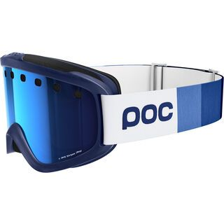 POC Iris Stripes, blue/Lens: persimmon blue mirror - Skibrille