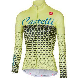 Castelli Ciao Jersey, sunny lime/light black - Radtrikot
