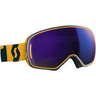 Scott LCG inkl. Wechselscheibe, blue yellow/Lens: solar blue chrome - Skibrille