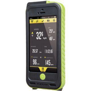 Topeak Weatherproof RideCase + PowerPack/Halter für iPhone 5, black/green - Schutzhülle
