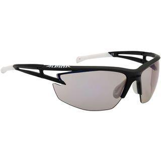 Alpina Alpina Eye-5 HR VLM+, black matt white black/Lens: varioflex+ mirror blue - Sportbrille
