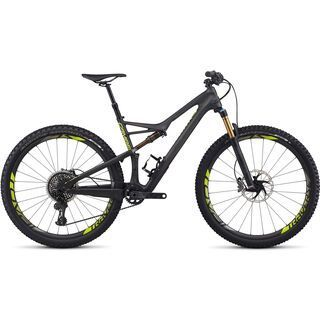 Specialized S-Works Camber FSR Carbon 29 2017, carbon/black/hy green - Mountainbike
