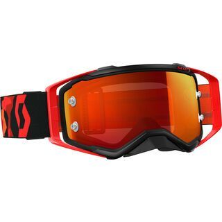 Scott Goggle Prospect, black/fluo red/Lens: orange chrome - MX Brille