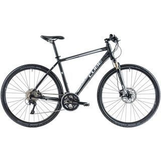 Cube Cross Pro 2014, black anodized/white - Fitnessbike