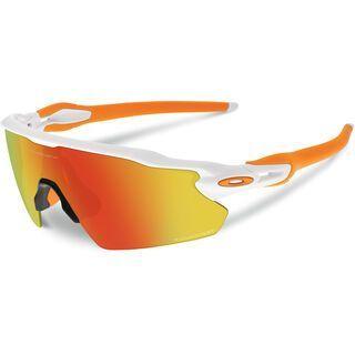Oakley Radar EV Pitch, polished white/fire iridium polarized - Sportbrille