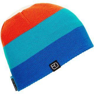 Ortovox Beanie Multicolor, blue/orange - Mütze