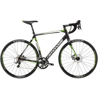 Cannondale Synapse Disc 3 Ultegra 2014, black anodized with white/green matte - Rennrad