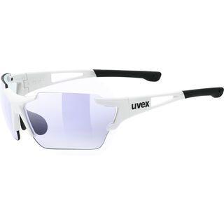 uvex sportstyle 803 race v, white/Lens: variomatic litemirror blue - Sportbrille