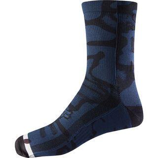 Fox 8 Print Trail Sock, navy/grey - Radsocken