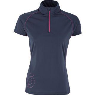 Scott Womens Trail MTN 10 s/sl 1/4 zip Shirt, blue nights - Radtrikot