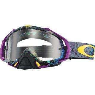 Oakley Mayhem Pro MX, skull pipe blue/Lens: clear - MX Brille