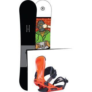 Set: Ride Crook 2017 + Ride Revolt, orange - Snowboardset