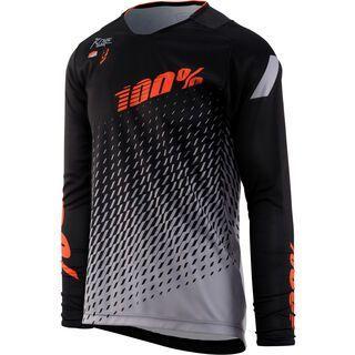 100% R-Core DH Youth Jersey, supra black/grey - Radtrikot