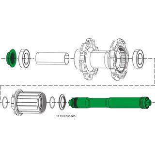 Zipp Endkappen und Achsen Kit für Nabe 188, hinten - Achsadapter