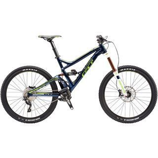 GT Sanction Expert 27.5 2016, blue/lime - Mountainbike