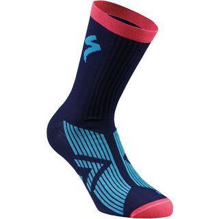 Specialized SL Elite Summer Sock, blue/neon blue/acid red - Radsocken