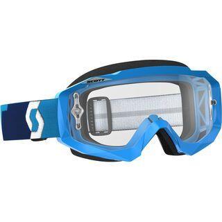 Scott Goggle Hustle MX, blue/Lens: clear - MX Brille