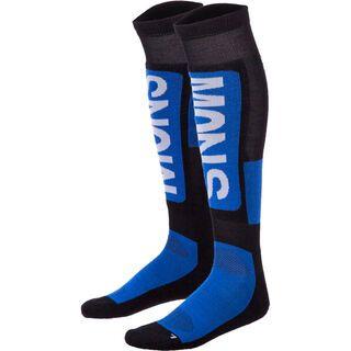 Mons Royale Men's Tech Snow Sock, bay blue black grey - Socken