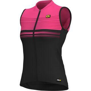 Ale Slide S/less Lady Jersey, black-fluo pink - Radtrikot