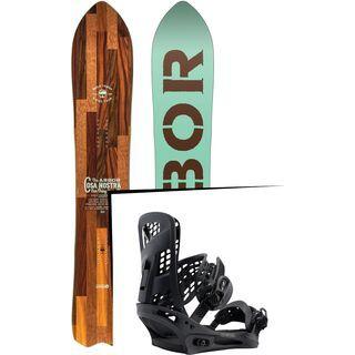 Set: Arbor Cosa Nostra 2017 + Burton Genesis 2017, black - Snowboardset