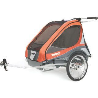 Thule Chariot Captain 2 inkl. Fahrrad-Set, orange - Fahrradanhänger