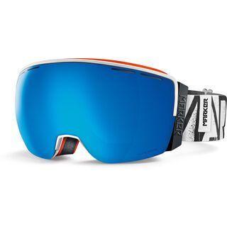 Marker 3D+ OTIS inkl. Wechselscheibe, white/Lens: blue hd mirror - Skibrille