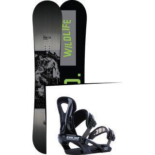 Set: Ride Wild Life 2017 + Ride LX 2015, black - Snowboardset