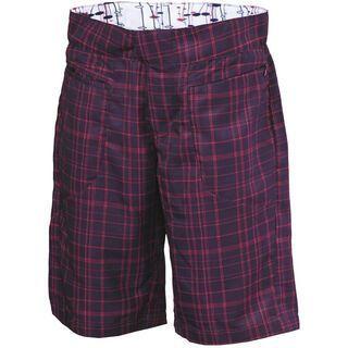 Scott Shorts Womens Sky check ls/fit, dark purple/raspberry pink - Radhose
