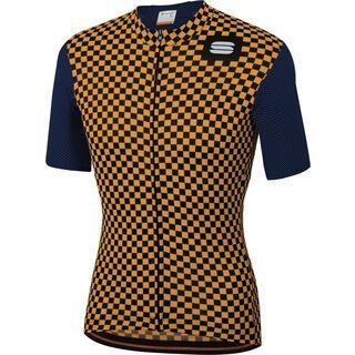 Sportful Checkmate Jersey, blue/gold - Radtrikot