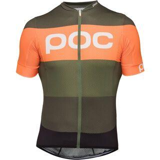 POC Essential Road Logo Jersey, pentlandite multi green - Radtrikot